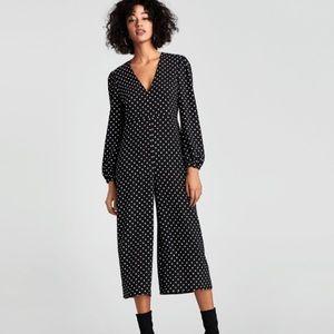 NWOT Zara Woman Polka Dot Jumpsuit sz S